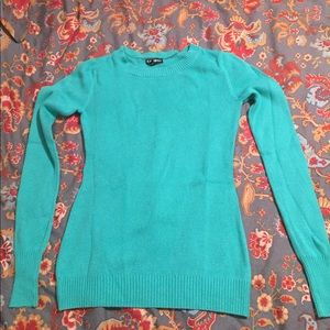Turquoise Express sweater size small